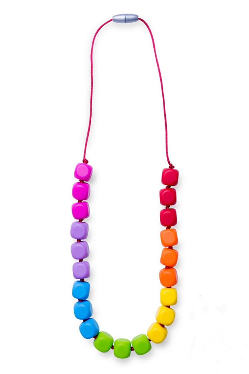 BPA Free Baby Kid Silicone Teething Chew Beads Necklace Teether  Autism ADHD UK