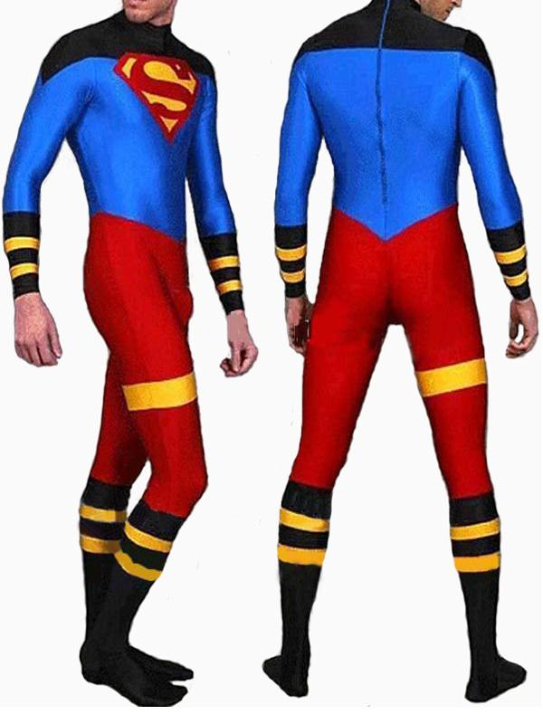 Full Body Lycra Spandex Skin Suit Catsuit Party Costumes Superboy Zentai Halloween Party Cosplay ZenTai suit