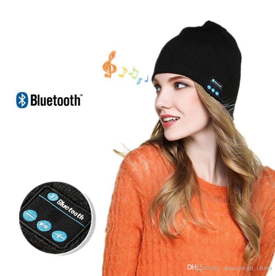 Bluetooth Music Beanie Hat Wireless Smart Cap Headset Headphone Speaker Microphone Handsfree Music Hat OPP Bag Package 200pcs OOA2979