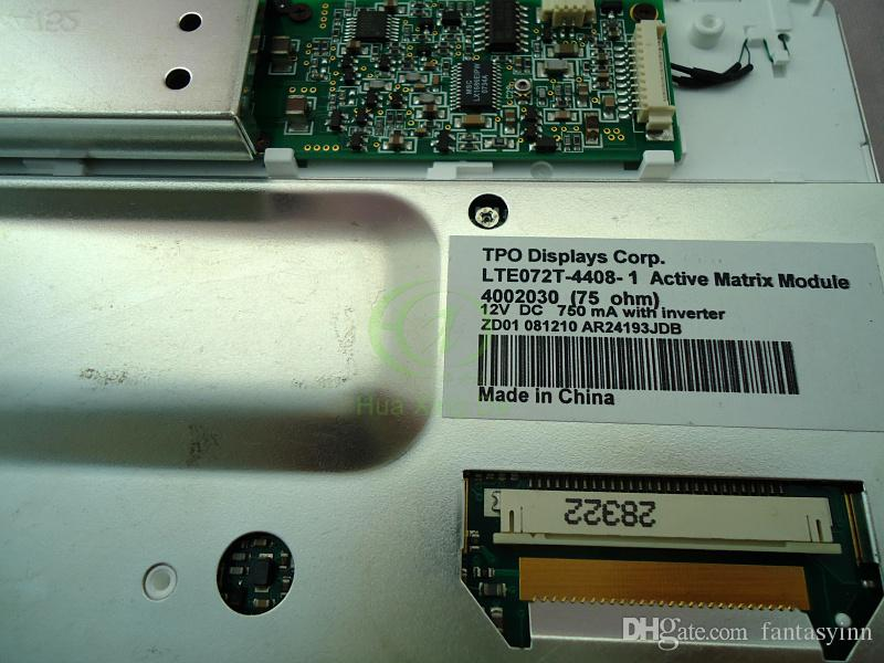 TPO LTE072T-4408-1 LTE072T-050 모바일 디스플레이 시스템 푸조 시트로엥 C5 벤틀리 용 12V LCD 모듈 내비게이션 카 오디오 시스템