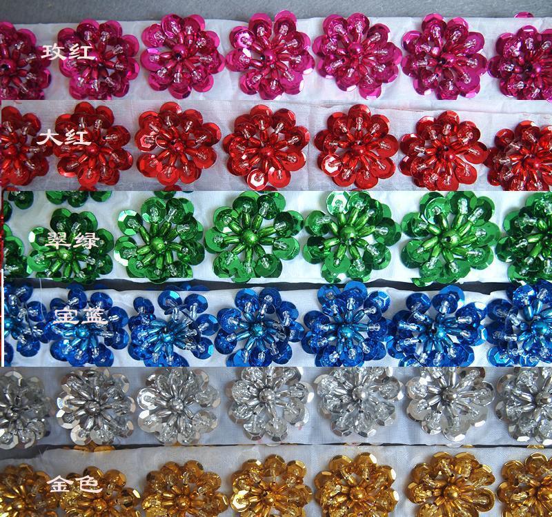 Wholesale-Shiny Pailletten Blütenblätter trimmt Silber Gold Paillette 3.0CM--