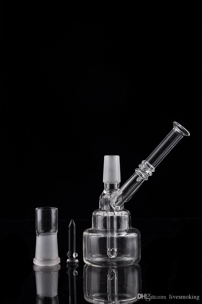 New Collections Hitman Small Birthday Cake Glass Bong Oil Rig Dabs Water Pipe Hookah Downstem Perk Recycler Brand Bong