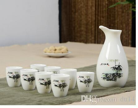 Cups Ceramics Wine Pot decoration Home Japanese wine spirits ceramics wine cup Japan tea sets drinkware