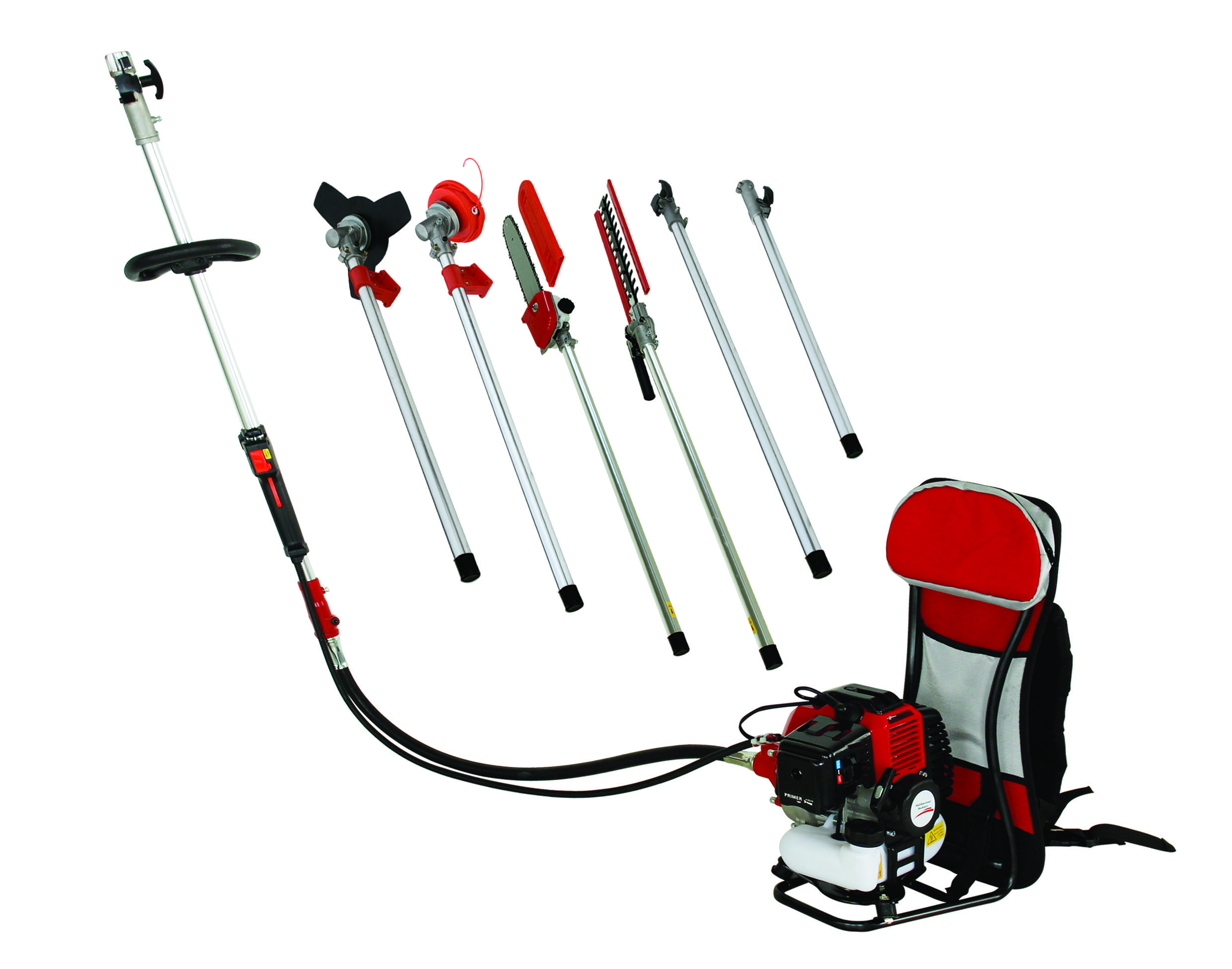 New Model Back Pack Model 52CC multi brush cutter,pole chain saw,pole hedge trimmer 5 in 1