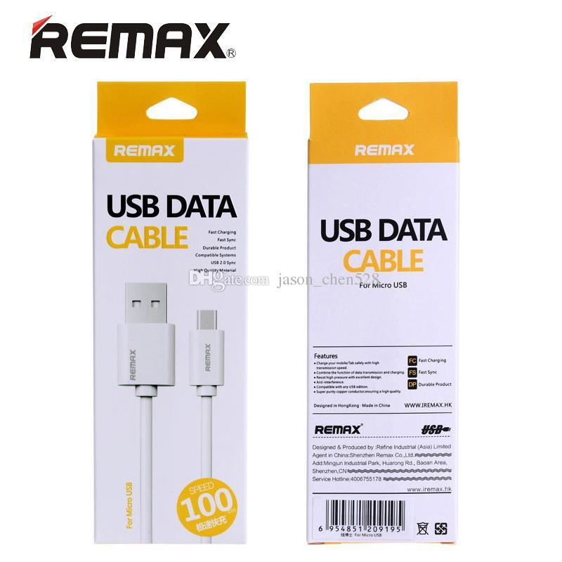 Remax 1M 3FT Fast Charging Micro USB Charging Data Cable type c for Samsung LG HTC with Retail Box