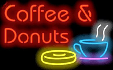 """Coffee & Donuts Neon Sign Handcrafted Custom Real Glass Neon Restaurant Store Shop PUB Display Advertising Neon Signs 19""""X15"""""""