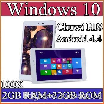 """100X Chuwi HI8 Tablet PC Dual OS Windows 10 & Android 4.4 Dual Boots Bay Trail Z3736F 2GB 32GB Quad Core 8"""" 1920x1200 IPS BT OTG 2-8PB"""