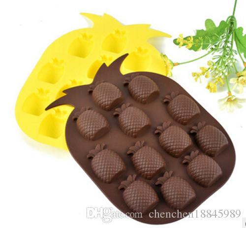 Moule à gâteaux de glace de glace d'ananas moule de savon silicone flexible pour bougie de savon à la main Candy cuisson de cuisson de cuisson de cuisson de cuisine Outils de cuisine Moules de glace