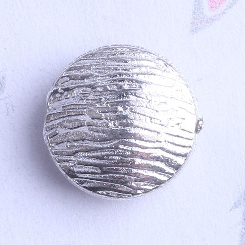 streak plat rond charme de perle d'entretoise 350pcs / lot 5.4 * 4.9mm argent antique / alliage de zinc pour pendentif de bricolage fabrication de bijoux accessoires 2432