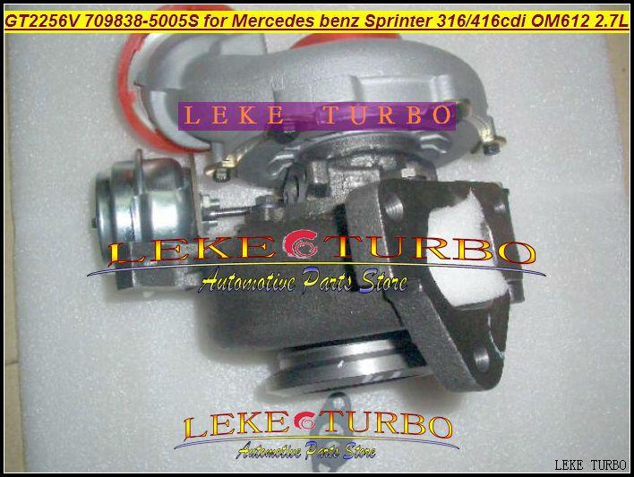 GT2256V 709838-5005S 709838-0004 709838 turbo for Mercedes benz Sprinter I Van 316CDI 416CDI OM612 2.7L turbocharger (5)