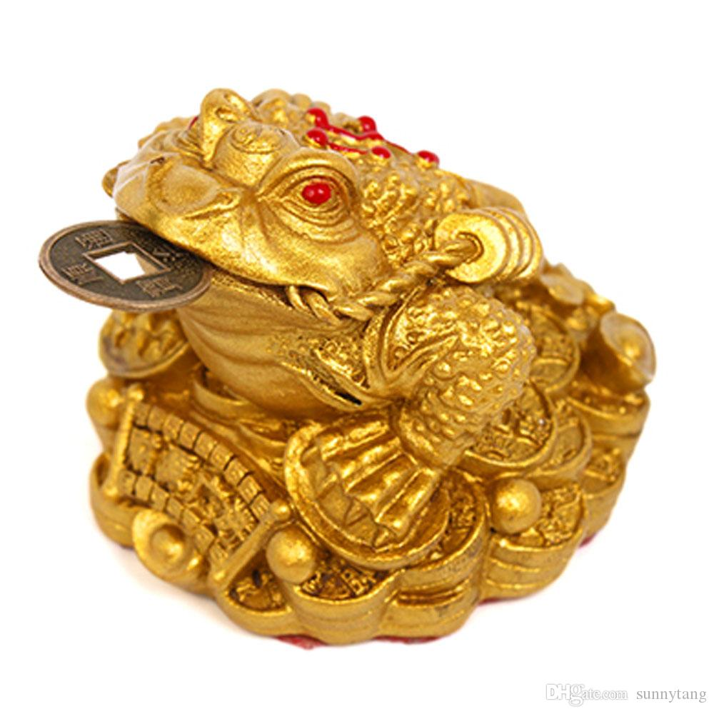 Feng Shui Money 3 Frog Toad With Chinese Coin Charm For Good Lucky /& Prosperity