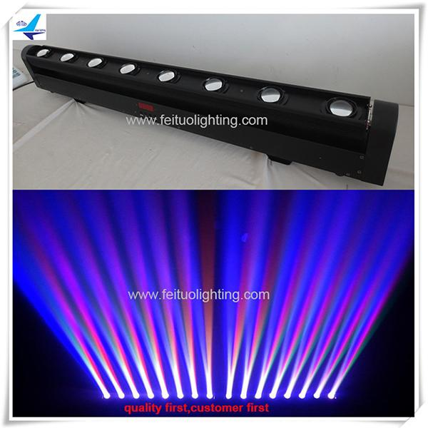 (8pcs / CASE) led beam head beam 8x10w led bar rgbw cabeza móvil etapa