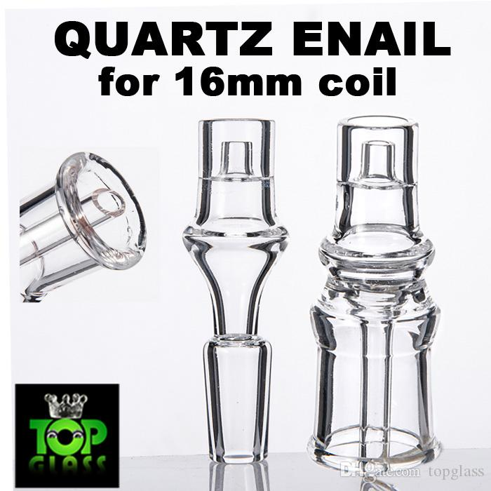 Domeless Quartz E-nail electronic quartz nail for 16mm heating coil with inner tube.High Quality and Stable thick neck
