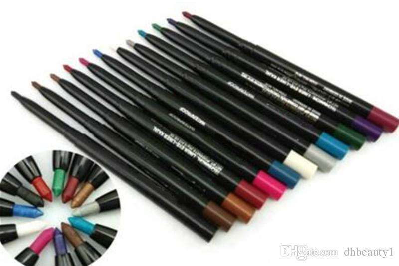 12 color Brand M eyeliner lip liner eyeliner pencils new eyeliners styles Auto rotate Multifunction liner