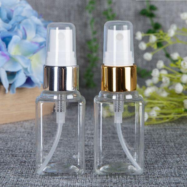 Kleine klare leere Plastikparfümflasche 40ml Spray füllt Behälter-Behälter-Flaschenparfümmusterphiolen ab