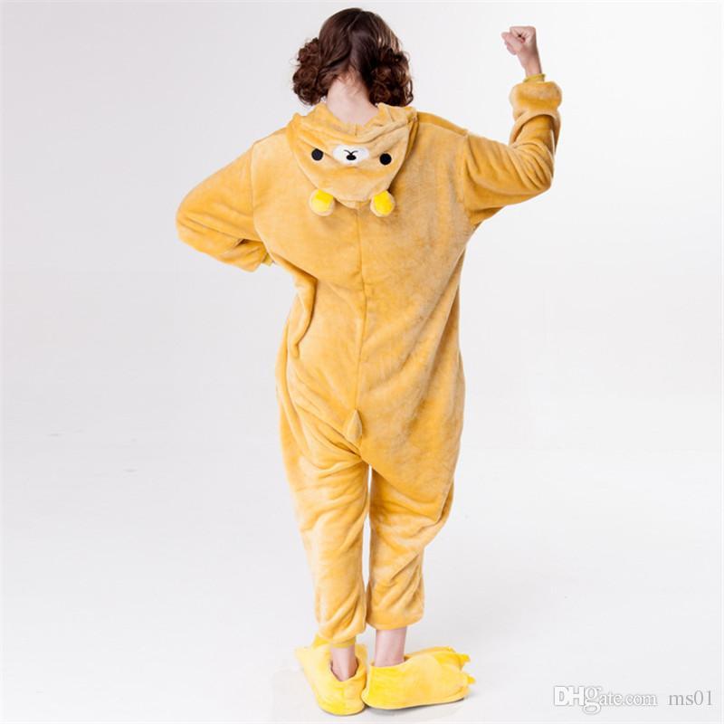 De alta qualidade dos desenhos animados dorminhoco Qiu dong feminino chateado animal pijamas A versão do banheiro casal mascote doméstico