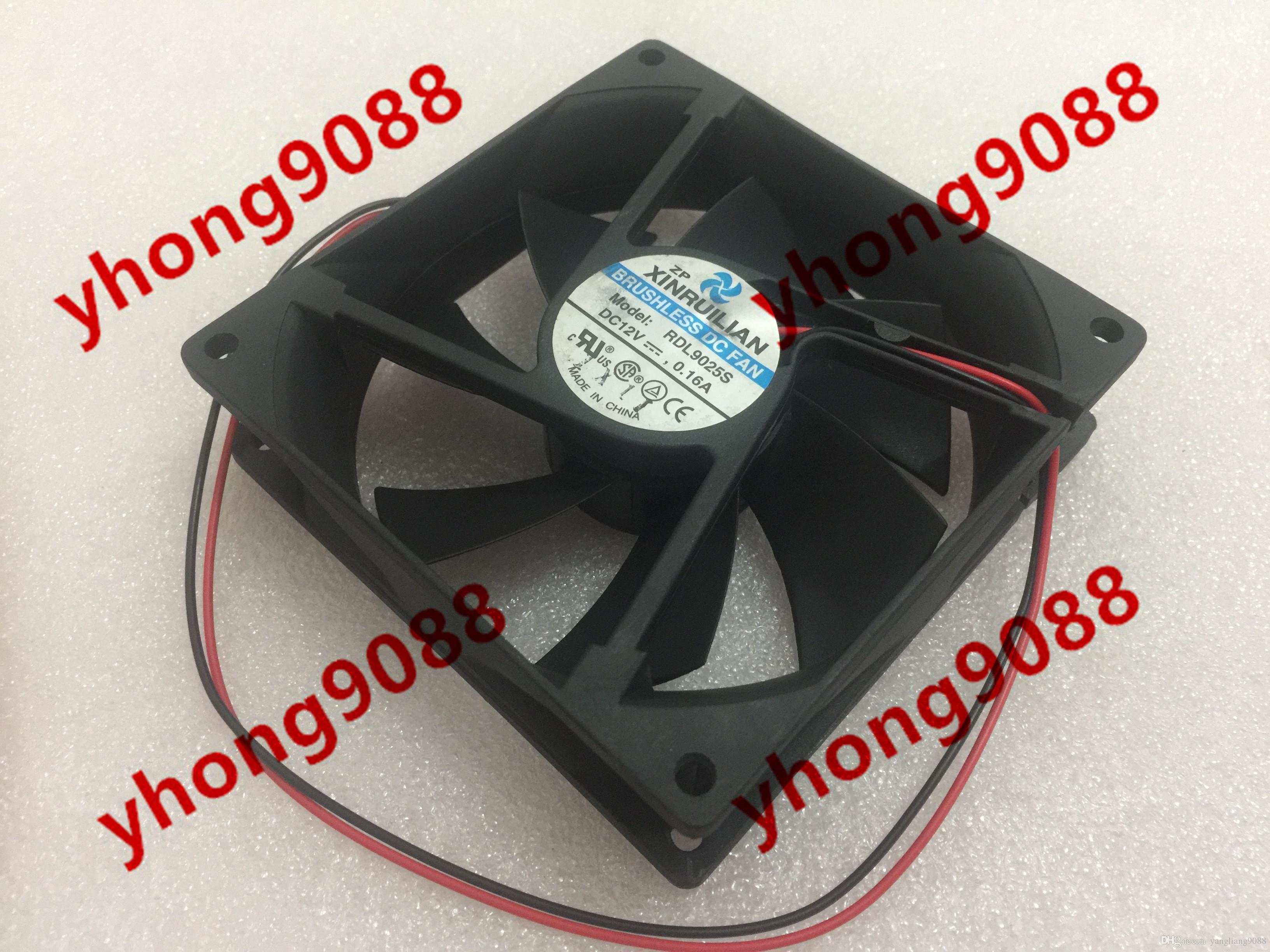 XINRUILIAN RDL9025S DC 12V 0.16A 2-wire 2-pin connector 90x90x25mm Server Cooling Square fan
