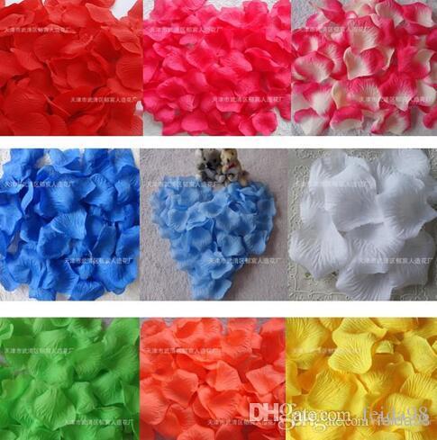 로맨틱 인공 실크 장미 꽃잎 홈 장식 꽃잎 꽃 웨딩 파티 화환 액세서리 골드 레드 5cm MIC 10000pcs (100 가방