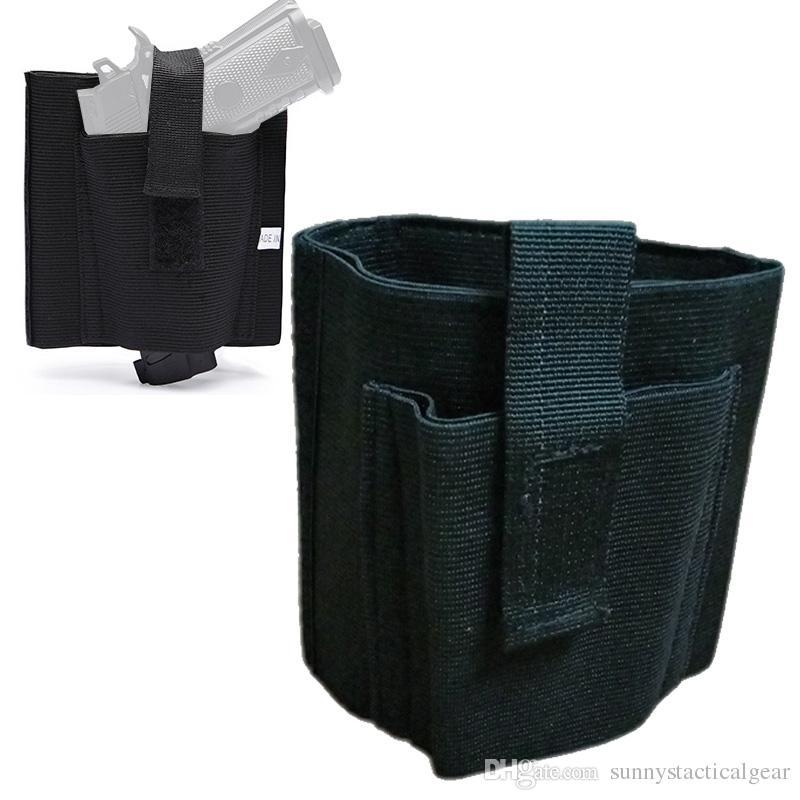 ESTERNO TACTICO ASSALTO ASSALT PACK PACK Holster Sacchetto Pistol Handgun Gun Holster Tactical Gamba nascosta Caviglia Scolisca NO17-301