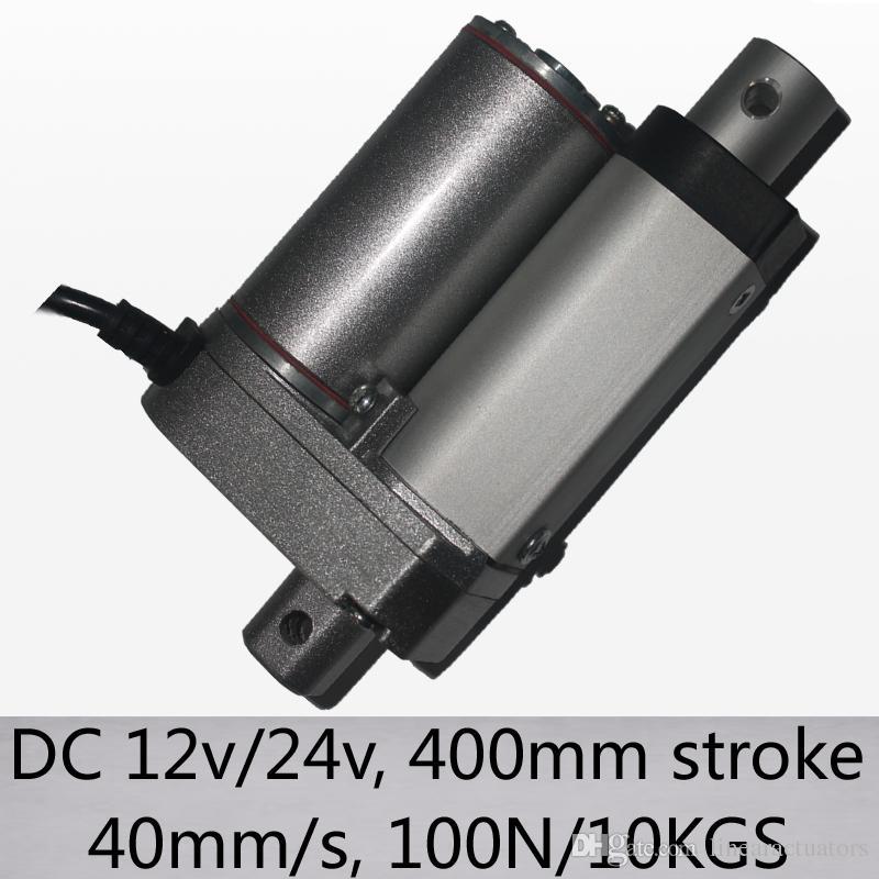 "16 ""/ 400mm 스트로크 선형 액추에이터 40mm / s 고속 100n 10kgs 부하 dc 12v 및 24v"