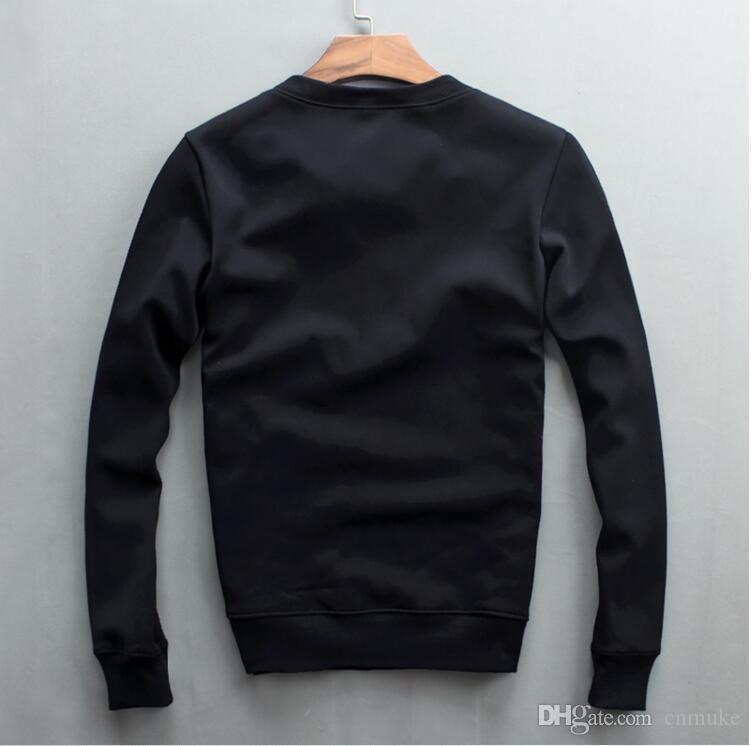 Tops al por mayor Diseño de bordados de lujo 09g Sudaderas Hombres Moda Hombres Algodón y cálido Brand Funny Sweatshirts Thicken Vhlxd