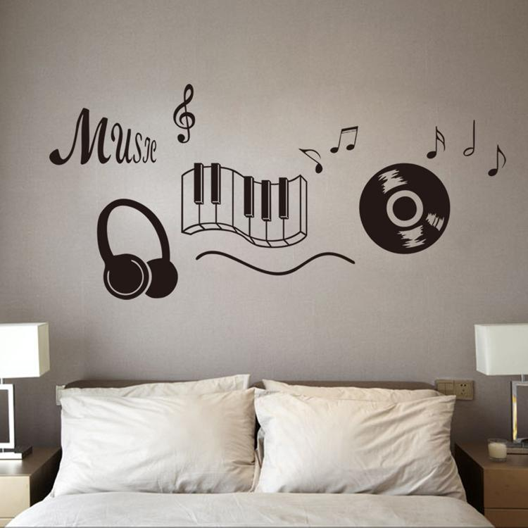 ... Brand New Diy Wallpaper Music Wall Stickers For Creative Wall Art Decoration  Music Wall Decals Home ...