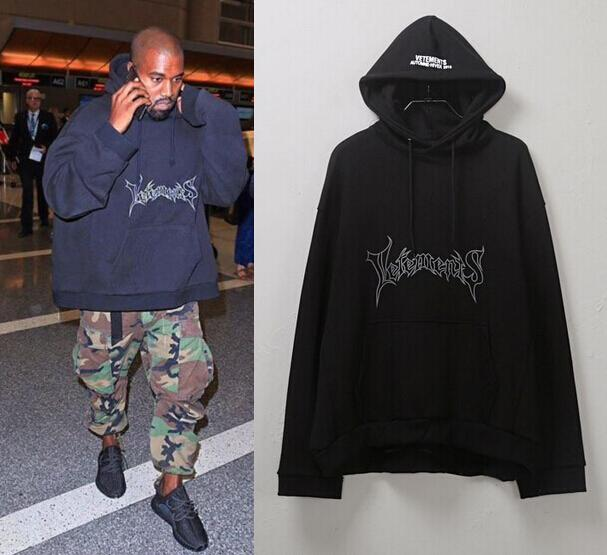 ddb5c401 kanye west hoodie streetwear oversized black star yeezus skateboard swag  tyga hip hop extended off white urban clothing