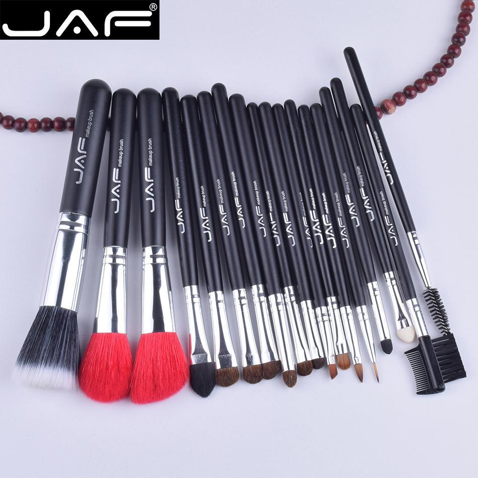 Jaf 18 Pcs Make Up Brush Set Naturel Super Doux Chèvre Rouge Cheveux Poney Cheval Cheveux Studio Beauté Artiste Maquillage Brosses Outils J1813ay -B