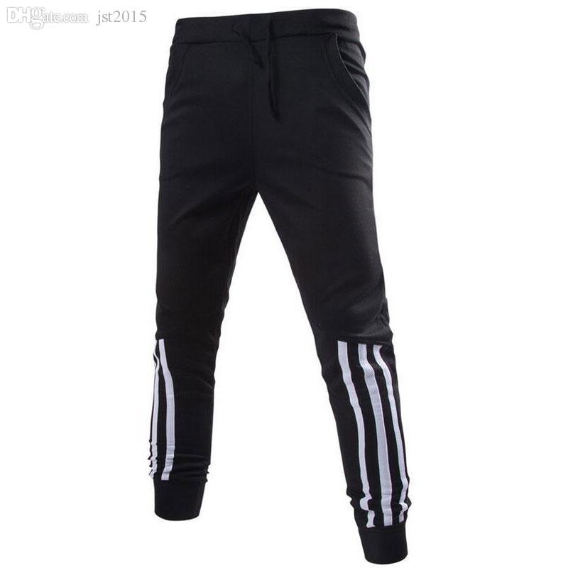 Wholesale-Mens Joggers Sweatpants for Men Cotton Jogging Pant Gym Clothing SweatPants Plus Size Grey or Black Jogger Pant Lightweight