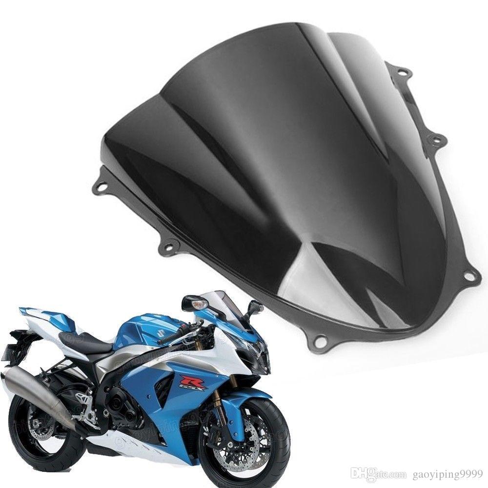 Новый мотоцикл двойной пузырь лобовое стекло обтекатель лобовое стекло объектива ABS для Suzuki GSXR1000 K9 2009-2014 2010 2011 2012 2013