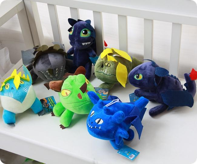 How to Train Your Dragon Plush Toy, Cartoon Movie Night Fury Toothless, Light Fury, Set of 7 PCS, Ornament Xmas Kid Birthday Gifts