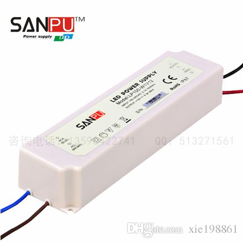 NEW Plas IP67 with CE 12V/24V 20w 35w 60w 75w 100W full WATERPROOF LED switch POWER SUPPLY/Transformer,use for led s,SANPU