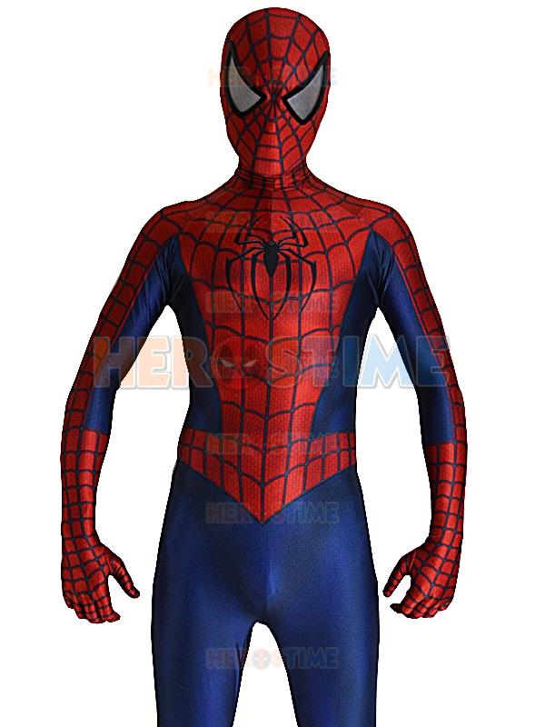 Free Shipping 2016 Raimi Spiderman Costume 3D Printed Spandex Halloween And Cosplay Party Spider-man Superhero Costume The Most Popular