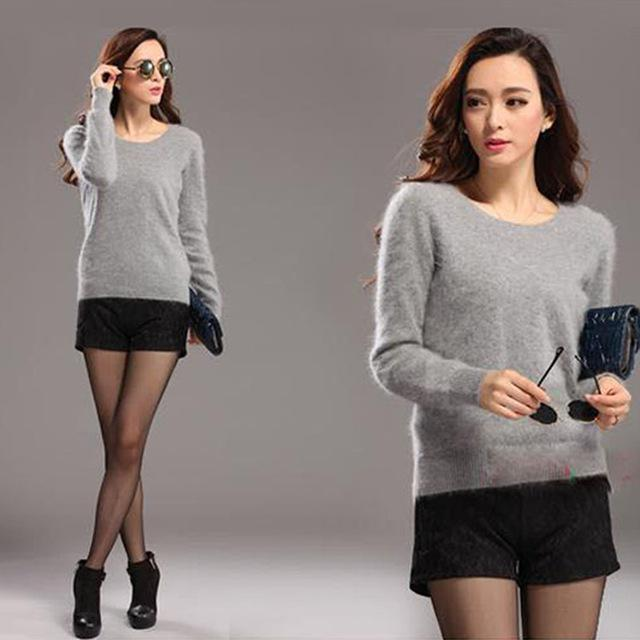 Hurtownie- 2016 nowy czysty norek kaszmirowy sweter kobiety 100% norek kaszmir sweter sweter darmowa wysyłka S168