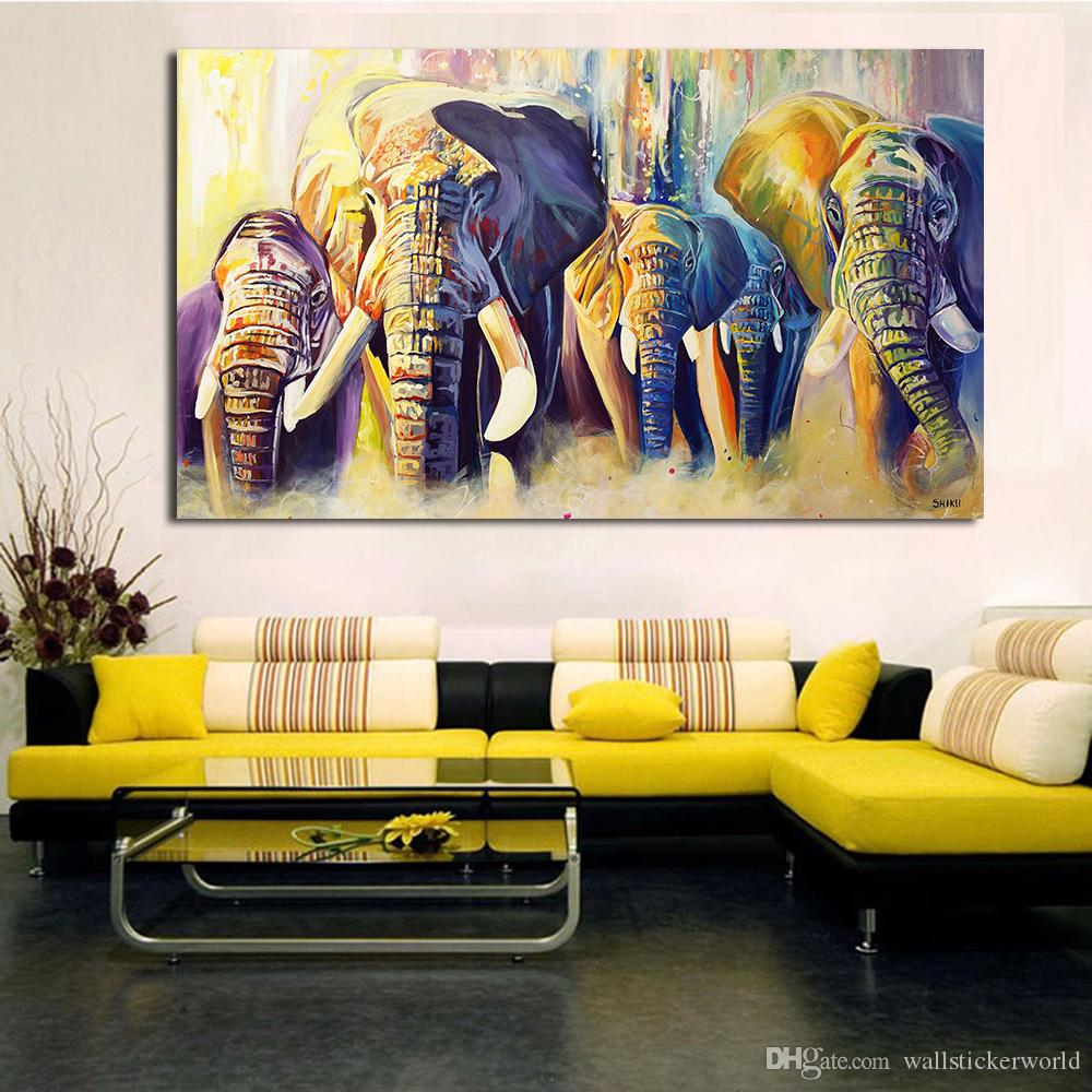 2020 Home Decor Oil Painting A Group Of