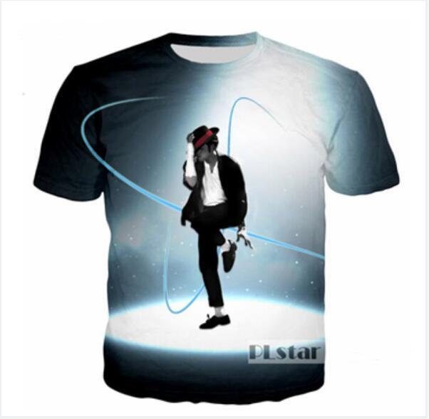 Sommer Mode Männer Frauen King of Pop Michael Jackson Lustige 3D Print T-Shirt Harajuku Stil T-Shirts Hip Hop T-Shirt Tops XKTX0030