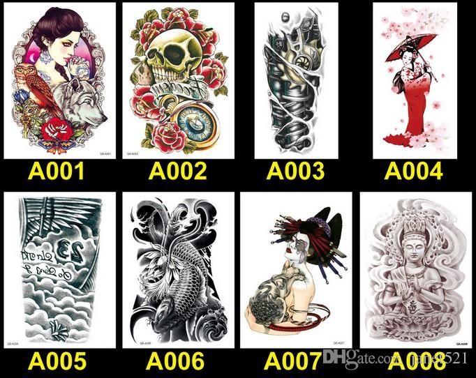 Body Art Tatouages 100 Styles Tatouages Temporaires Imperméables Tatouages De Transfert De L'eau Corps Beauté Art