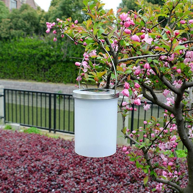 Lampe solaire extérieure imperméable à l'eau LED lampe nuit lumière seau en forme de cour jardin jardin lampe fabricants