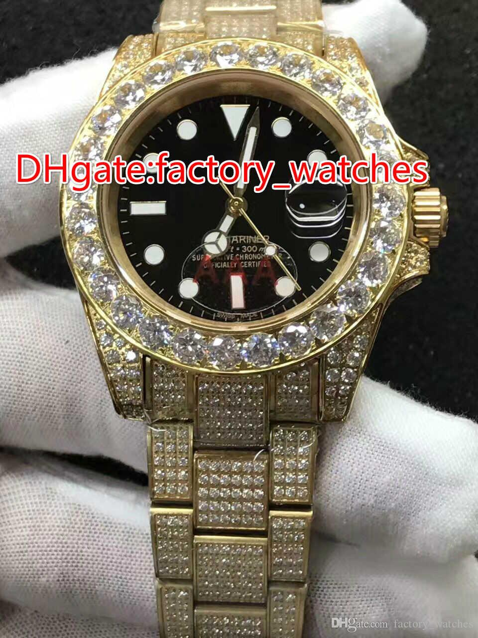 Nouveau modèle à la mode de la coquille d'or montre de luxe montre masculine de la machine automatique de marque de diamant montre étanche Livraison gratuite.
