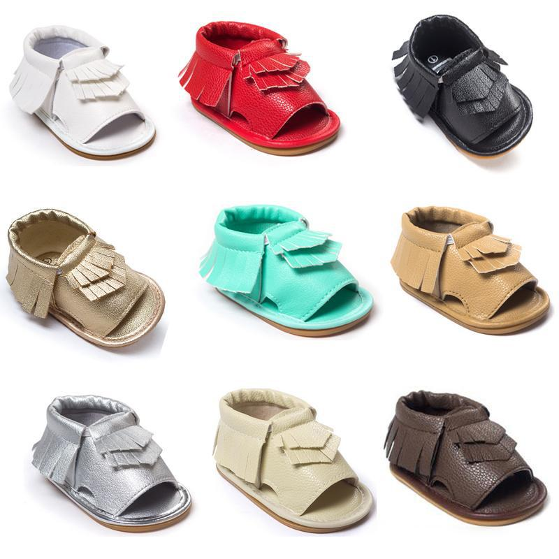 2016 New Baby moccasins first walker shoes Tassels sandlas baby shoes soft soled shoes soled sandals 9 Color