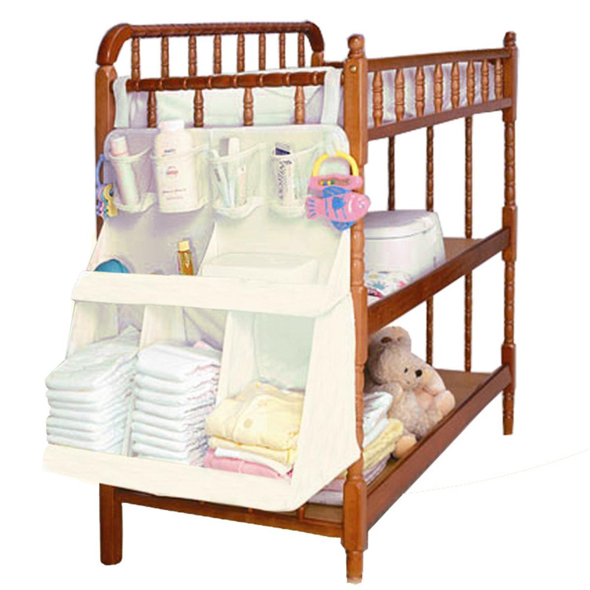 حفاضات الطفل الفراش مجموعة اكسسوارات للماء السرير المنظم الطفل سرير الطفل السرير شنقا حقيبة التخزين المحمولة حقيبة