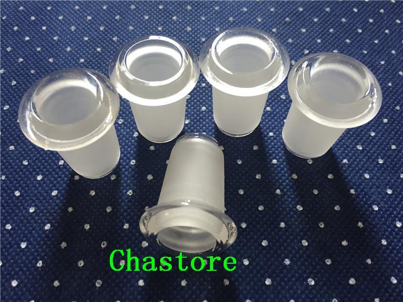 18.8mm macho a 14.5 hembra adaptador de vidrio 14.5mm conector en 18.8mm conexión a tierra bongs de vidrio adaptador