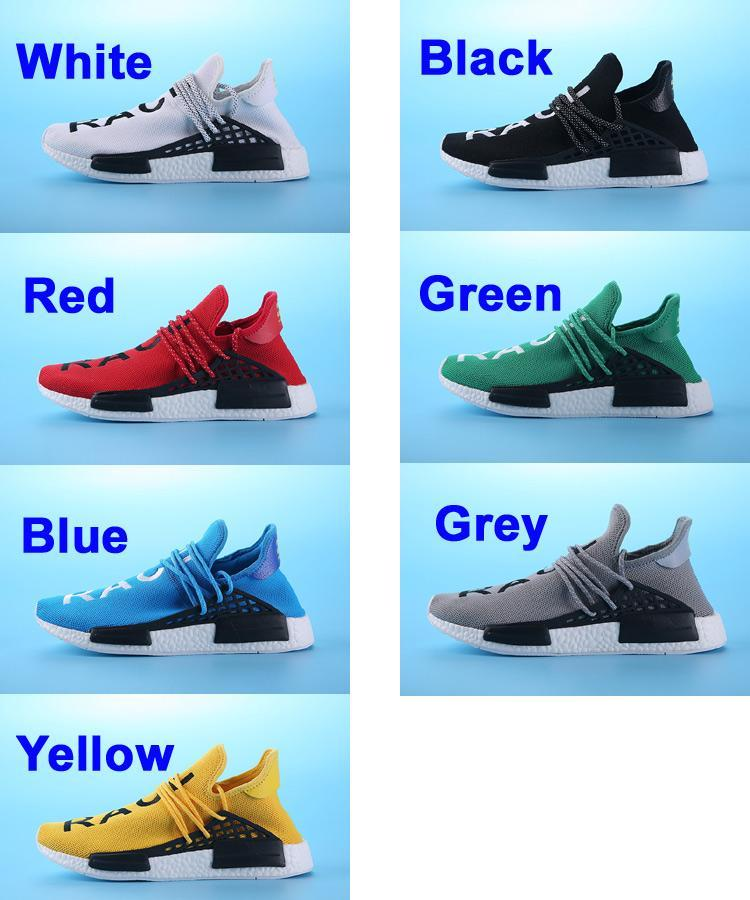 sneakers for cheap fc3b6 60c9c 2019 NMD Human Race Runner Boost,Pharrell'S Runners And Trainers NMD Boost  Running Shoes, Hu Race Williams Pharrell X White, Black, Red, Yellow From  ...