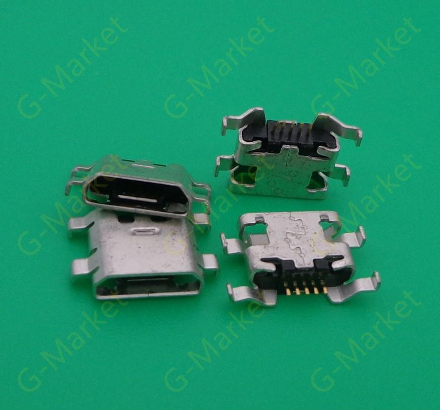 Wholesale-50PCS / LOT für ZTE-Blatt S6 5.0 Mikro-USB-Gebühr, die Verbindungsstückstecker-Dock-Einfaßungshafen auflädt