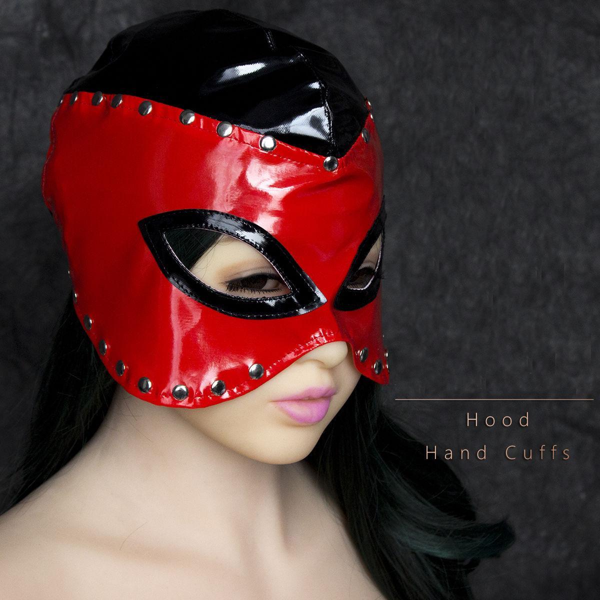 Capa de Couro Cravejado GIMP Máscara Fetish Rainha Fetish Roleplay Partido Traje TT15 # R501