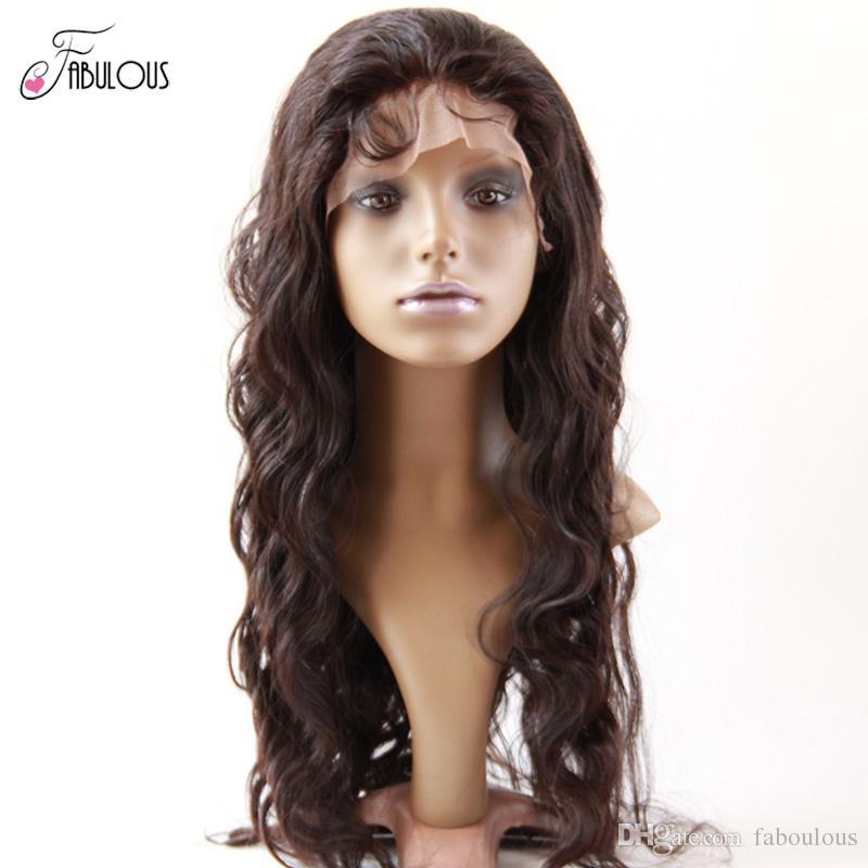 البرازيلي الجسم موجة عذراء الشعر الحقيقي الإنسان الكامل الدنتلة الباروكات 10-24 بوصة غير المجهزة اللون الطبيعي عالية الجودة شعر الإنسان الباروكات dhl freeshipping