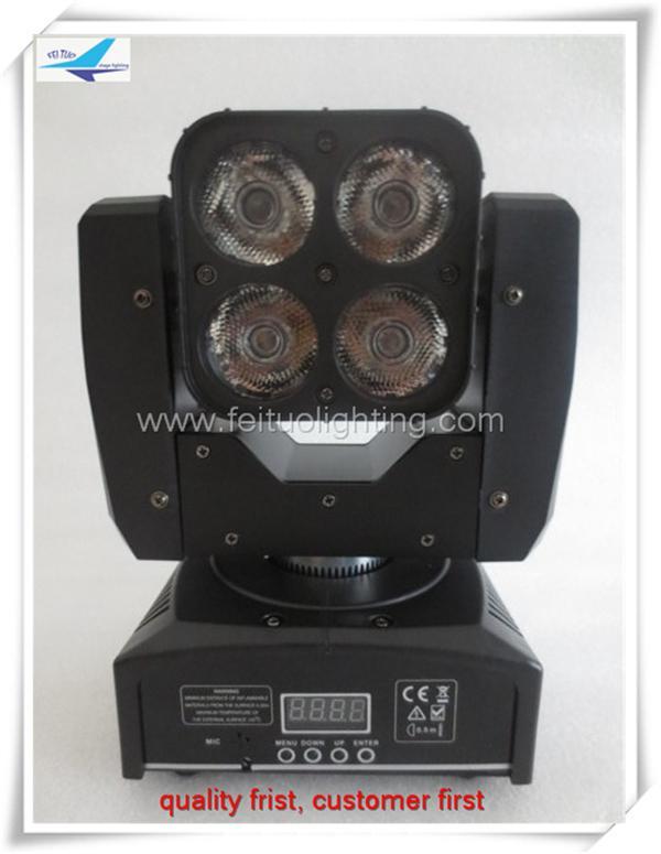 6pcs / lot 4x15w beam 4in1 led mini moving head с матрицей для dj party show высококачественный сценический свет