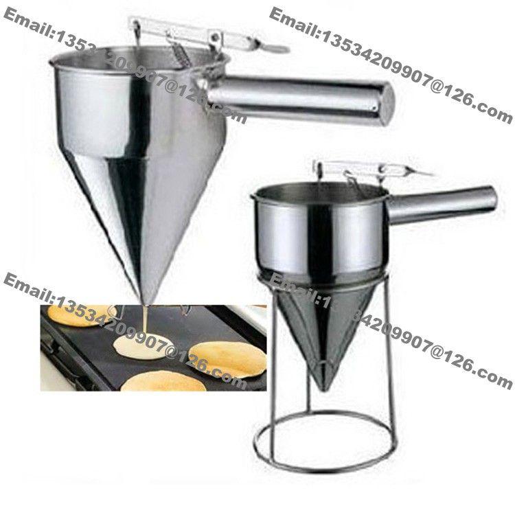 Free Shipping Stainless Steel Commercial Use Waffle Cupcake Mini Dutch Pancake Takoyaki Dorayaki Taiyaki Batter Dispenser