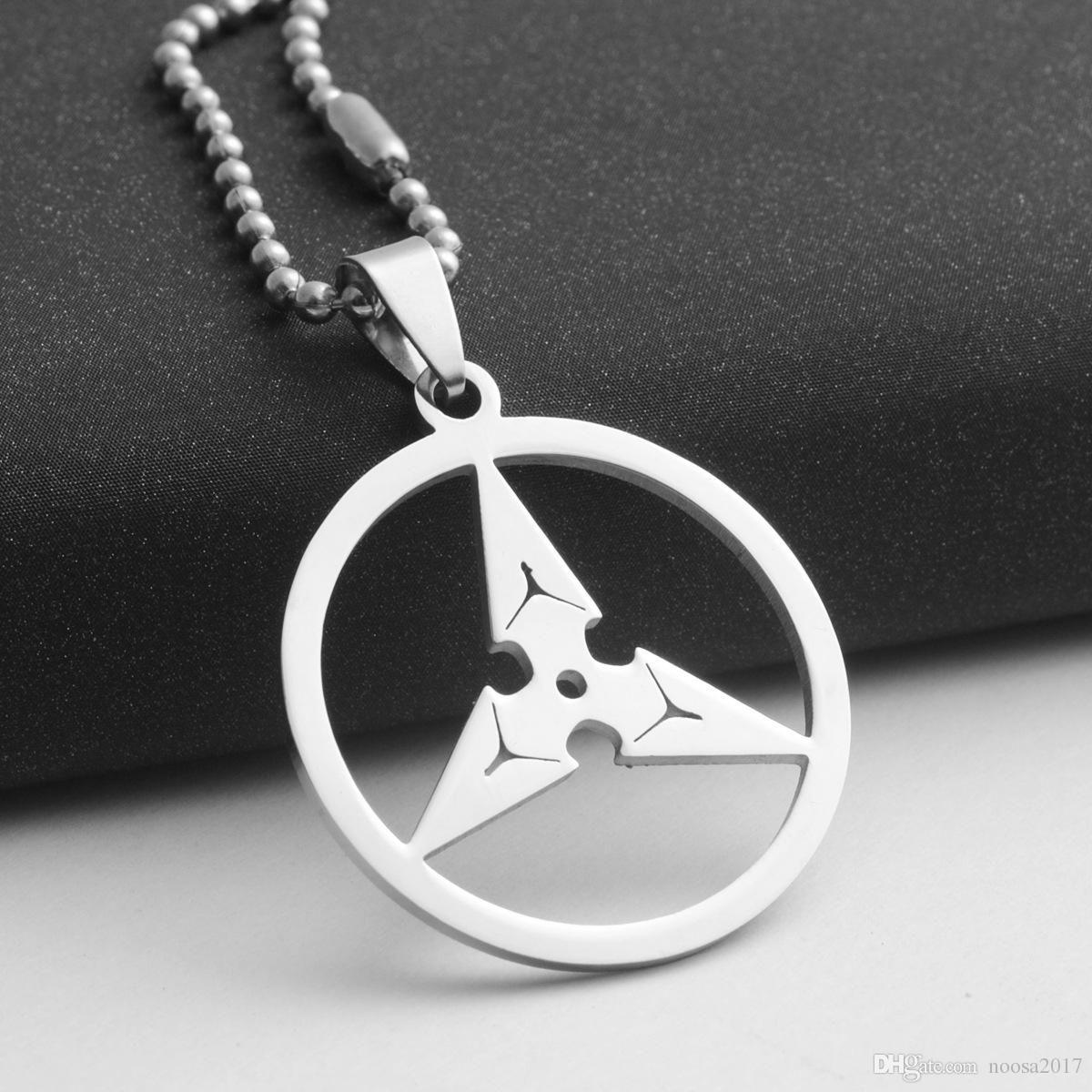 Charm Necklaces Men's Necklace Titanium Steel Pendant Stainless Steel Watch Pioneer Dart Pendant Necklace Fashion DIY Jewelry Decoratio