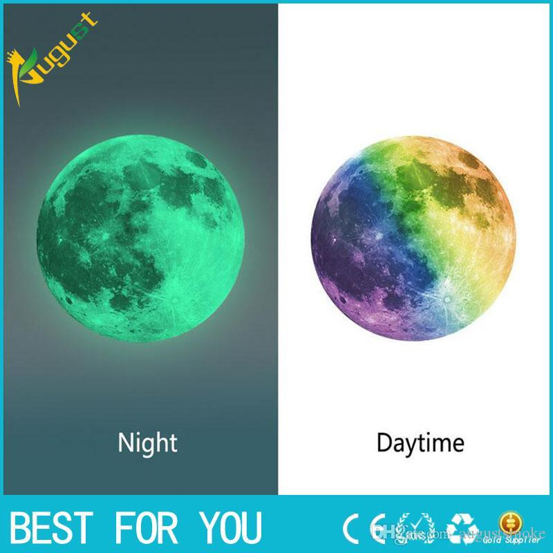 Luminous Night Moon Sticker Sticker Glow in the Dark Great Gift and wall stickers لغرف الأطفال لغرف الأطفال أو الملصقات